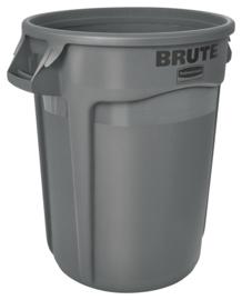 Ronde Brute container, Rubbermaid grijs - 121,1 liter