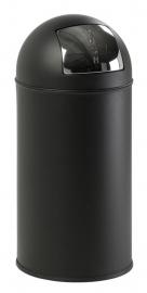 Pushcan mat zwart, EKO - 40 liter