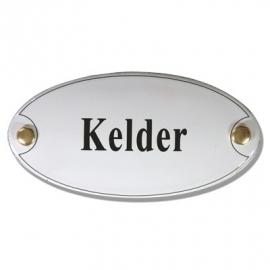 Emaille naamplaatje Kelder