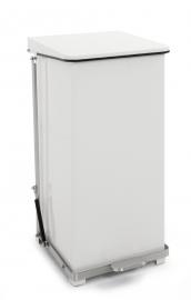 Industriële pedaalemmer wit - 90 liter