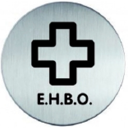 RVS pictogram E.H.B.O.-1 rond 83mm