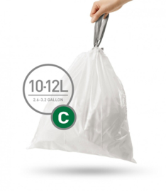 Afvalzakken 10-12 liter Simplehuman ( 480 stuks )