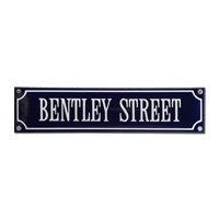 Emaille bord Bentley Street 330x80mm