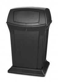 Afvalbak Ranger container zwart - 170 liter