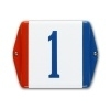 Emaille huisnummerbord model Baarle Nassau 100x100mm