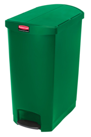 Slim Jim Step On container End Step kunststof, Rubbermaid groen - 90 liter