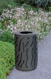 Afvalbak Venise staal - 80 liter