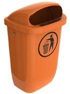 Afvalbak DIN-PK oranje - 50 liter