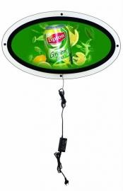 LED ovaal 700x350mm acryl