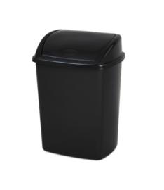 Afvalbak zwart - 26 liter ( set 16 stuks )