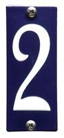 Emaille huisnummerbord HK-B2 40x100mm