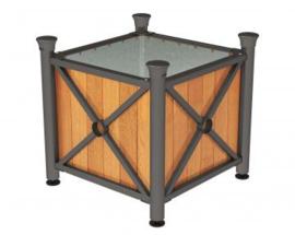 plantenbak Province hout en staal Forum top 800x800x750mm