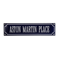 Emaille bord Aston Martin Place 330x80mm