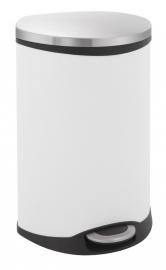 Shell bin, EKO wit/ RVS - 50 liter