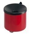 Vlamdovende wandasbak rood/ zwart