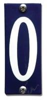 Emaille huisnummerbord HK-B0 40x100mm