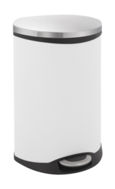 Shell recycling bin, EKO mat RVS/ wit - 2 x 22 liter