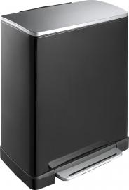 Pedaalemmer E-Cube, EKO mat RVS/ zwart - 50 liter