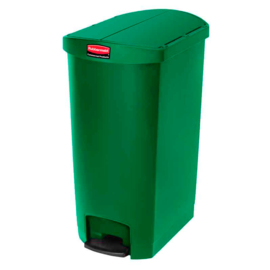 Slim Jim Step On container End Step kunststof, Rubbermaid groen - 68 liter