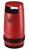 Afvalbak Merlin rood - 90 liter