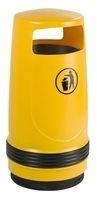 Afvalbak Merlin geel - 90 liter