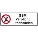 Verbodsbord GSM verplicht uitschakelen 450x150mm