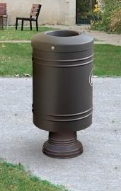 Afvalbak Gascogne staal op aluminium poot - 60 liter