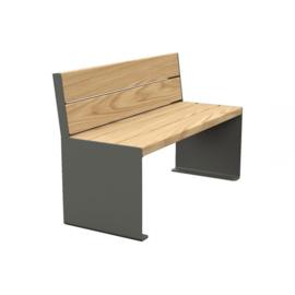zitbank KUBE hout en staal 1200x450mm