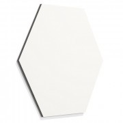 Frameless whiteboard zeshoek 580mm wit