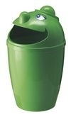 Afvalbak met gezicht groen - 75 liter