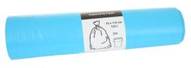Afvalzakken 70x110x0.016 V-part blauw HDK ( 250 stuks )