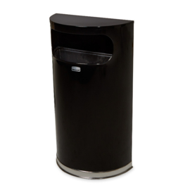 Designer halfronde afvalbak met binnenbak - 34 liter