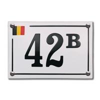 Emaille huisnummerbord model Baarle Hertog 150x100mm