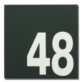 Emaille huisnummerbord model HR-51 vierkant 160mm