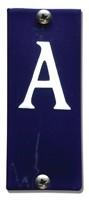 Emaille huisnummerbord HK-BA 40x100mm