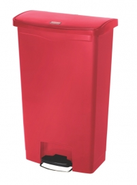 Slim Jim Step On container Front Step kunststof, Rubbermaid rood - 68 liter