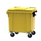Container geel vlak deksel - 1100 liter