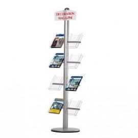 Free standing leaflet side shelf brochure holder t.b.v. formaat A4