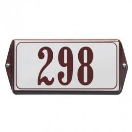 Emaille huisnummerbord model HO-50 200x100mm