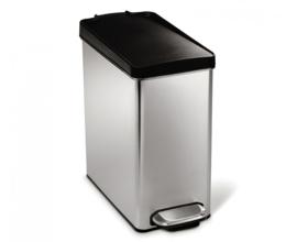 pedaalemmer Profile, Simplehuman RVS/ zwart - 10 liter