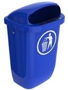 Afvalbak DIN-PK blauw - 50 liter