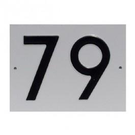 Huisnummerbord NEN 1774 160x120mm geperst aluminium