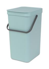Afvalemmer Sort & Go, Brabantia mint - 16 liter