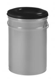 Vlamdovende papierbak aluminiumgrijs/ zwart - 60 liter