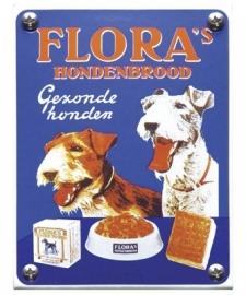Emaille NK-15-FL Flora hondenbrood 100x130mm