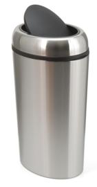 Ovale swing afvalbak RVS - 40 liter