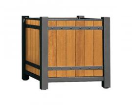 plantenbak Sarlat hout en staal 650x650x700mm