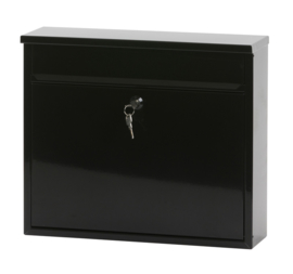 Wandbrievenbus Granadan 360x110x315mm zwart