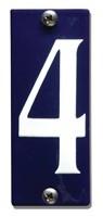 Emaille huisnummerbord HK-B4 40x100mm