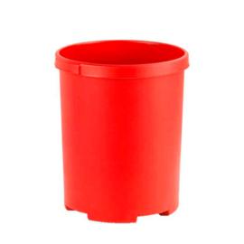 Ronde papierbak rood - 50 liter